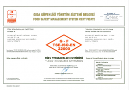 Gıda Güvenliği Yönetim Sistemi Belgesi
